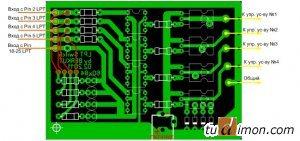 Печатная плата устройства управления в SL5 с описанием контактов
