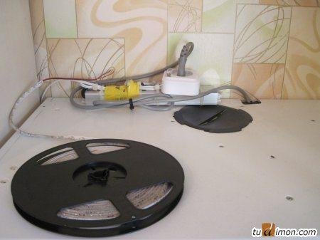 БП с подключенной светодиодной лентой