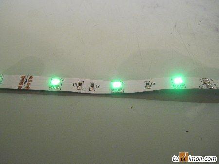Светодиодная лента - зеленый цвет
