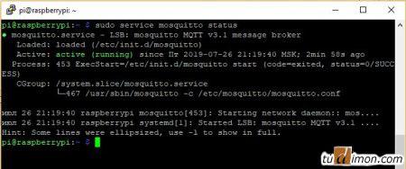 service mosquitto status