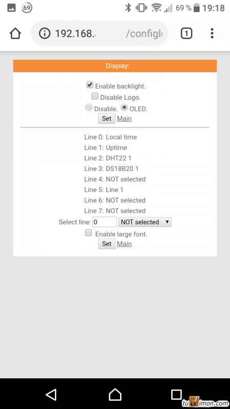 Включение OLED дисплея и настройка строк на WiFi-IoT